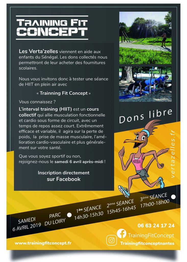 Training Fit Concept le samedi 6 avril 2019 à Vertou (parc du Loiry)