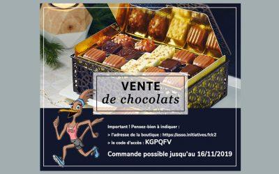 Vente de chocolats avec Alex Olivier
